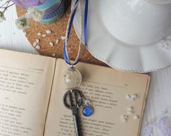 """electric blue necklace """"MEMORIES FROM the SEA"""""""