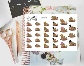 Pail the Snail character planner stickers