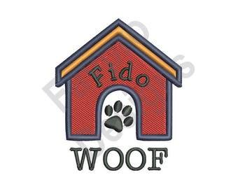 Dog House 4 - Machine Embroidery Design