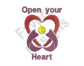 Open Your Heart - Machine Embroidery Design