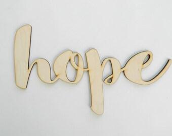Hope laser cut sign