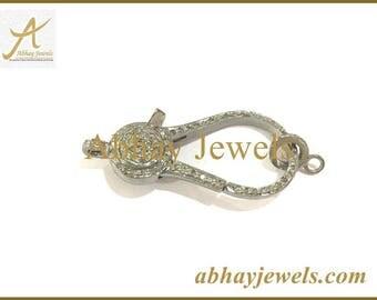 Silver Pave Diamond Claps