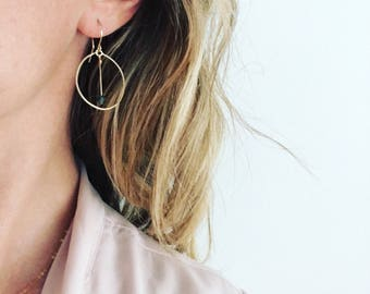 Dangle earrings, Gold earrings, Raw stone earrings, Boho earrings, Minimalist earrings, Bridesmaid earrings, Gold earrings, Delicate earring
