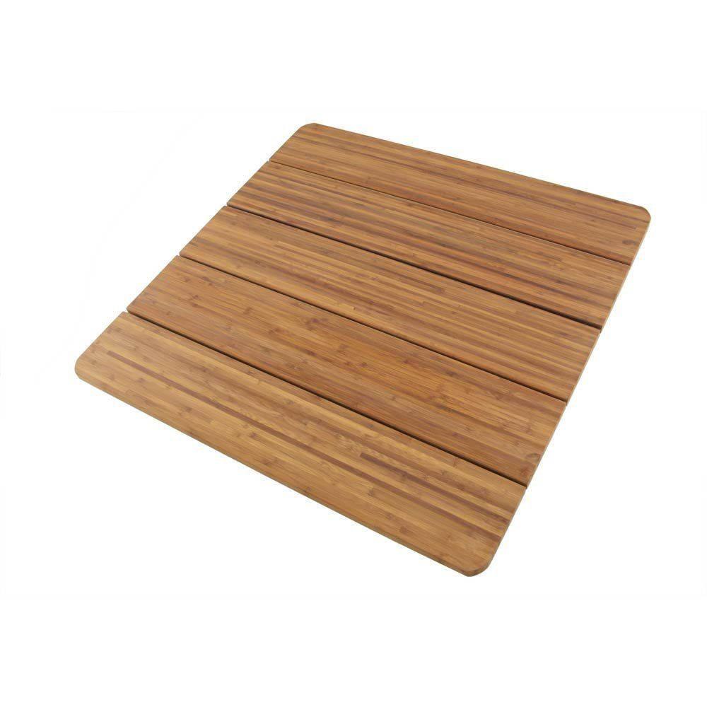 Large Bamboo Bath Mat Shower Sauna 28 X 28 Square