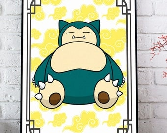 Snorlax Pokemon Print