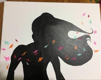 Pocahontas Silhouette Painting