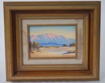 "Louis Heinzman ""Untitled"" 1959 Original Oil Desert Landscape Painting - Southwestern Motif"
