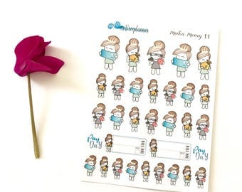 Meeka - Money Pay Day Bank Bill Due Planner Stickers - Aireeplanner