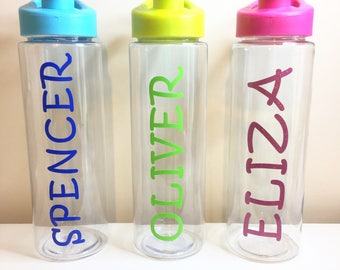 Personalised water bottle - Kids drink bottle - Personalized bottle - Back to school - Personalised kids bottle - Fruit infuser bottle