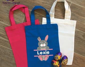 Easter egg hunt bag etsy personalised easter bag easter bunny gift bag easter gift bag easter egg hunt negle Choice Image