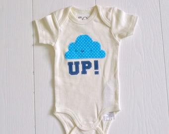 Body white size 6 M with kawaii cloud-shaped application