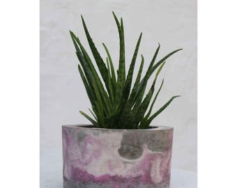 XL Pink and Grey Planter