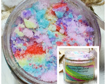 Unicorn Sugar Scrub -  Natural Body Scrub - All Natural Sugar Scrub - Unicorn Body Scrub - 12oz Sugar Scrub - Housewarming Gift