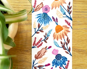 Floral hand painted bookmark 3
