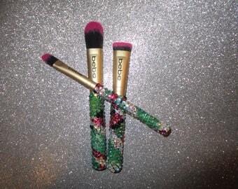 3 piece Courtour Mardi G bling Makeup Brush Set
