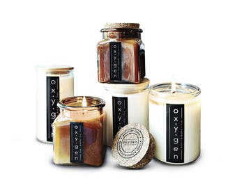 16 Ounce Lemongrass In Clear Jar With Wood Top. Organic Coconut Wax Candle. Handcrafted Using Pure Essential Oils + Plant Extracts.