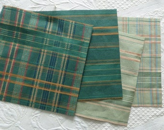 SET OF 14 COUPON OF FABRIC FOR PATCHWORK
