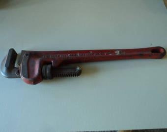"""Vintage Ridge 18"""" Pipe Wrench"""