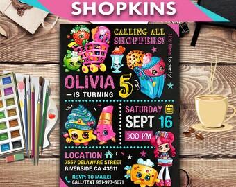 Shopkins Invitation, Shopkins, Shopkins Party, Shopkins Printable, Shopkins Invite, Shopkins Birthday Party, Shopkins Card
