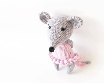 PATTERN - Mozzarella The Mouse - amigurumi pattern, crochet pattern, PDF