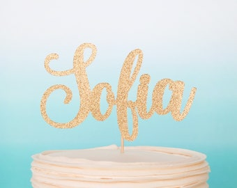 Custom Name Cake Topper Name Cake Topper Gold Custom Cake Topper Personalized Cake Topper Name Cake Sign Custom Cake Decoration Gold Glitter