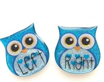 Medium Blue Owl Xray Markers Customized w/Initials