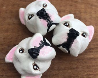Dogo Argentino magnet set, Argentine Mastiff magnets, dog lover gift