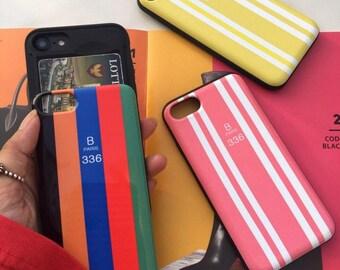 Balenciaga inspired Card insert slide iPhone Case, unique luxury hard Phone case, 6 6S Plus 6S Plus 7 Plus 8 plus X Galaxy S Note Samsung LG