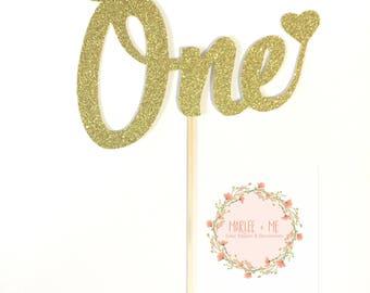 One Cake Topper, 1st birthday, Cake Topper, Birthday, Milestone,