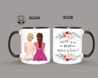 Maid Of Honor Proposal Mug, Will You Be My Bridesmaid Mug, Proposal Mug For Maid Of Honor