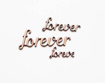 Forever  - 3 Wooden pieces to decorate or make any type of crafts.