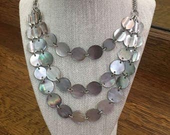 Kenneth Cole Costume Abalone Shell Necklace Jewelry