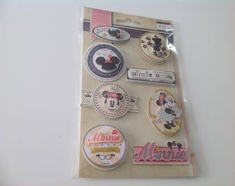 8 Minnie Mouse Disney Stickers in 3D