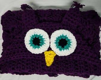 Owl blanket, hooded owl blanket, crochet blanket, crochet owl