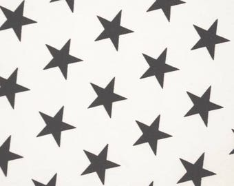 White And Black Stars Showerproof Fabric - 58 Inches Wide