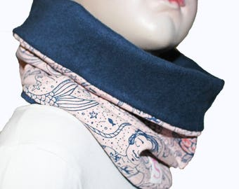 Girls scarf, girls infinity scarf, loop scarf, mearmaids