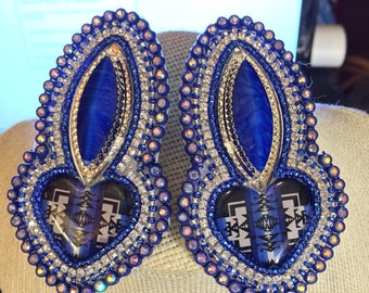 Blue Dazzle Heart