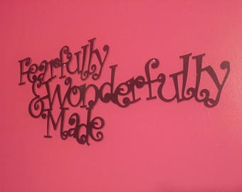 Fearfully and Wonderfully Made wall hanging