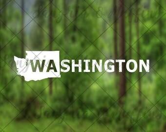 Washington State Decal - car, window, laptop, tablet decal, pnw love, pnw pride, pnw decal, Washington pride, Washington Decal
