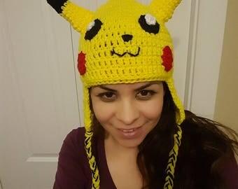 pikachu hat, crochet hat, podemos hat