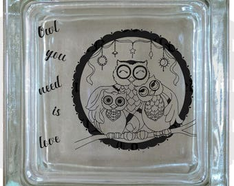Owl You Need is Love Decal