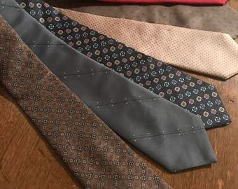 6 Vintage Mens Silk Neck Ties