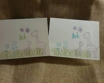 Hi cards set of five notecards