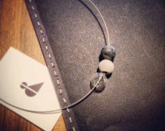 Three Ball concrete Necklace