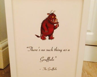 The Gruffalo Julia Donaldson Quote Art Print Poster Unframed Gift Nursery Christening Home Gift