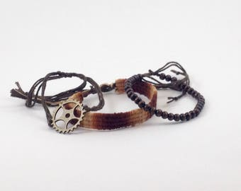 coffee-cog bracelet set