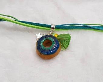 Green Fimo Donut bracelet