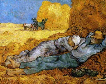 Inspirer Studio® Ultra Giclee on Canvas - Stretched - Ready to hang - vincent van gogh (Rest from Work)