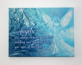 "Angels are always close -  9""x12"" Canvas Print"