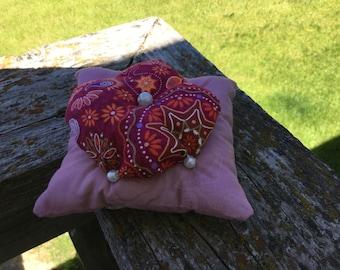 Pink pearl pin cushion